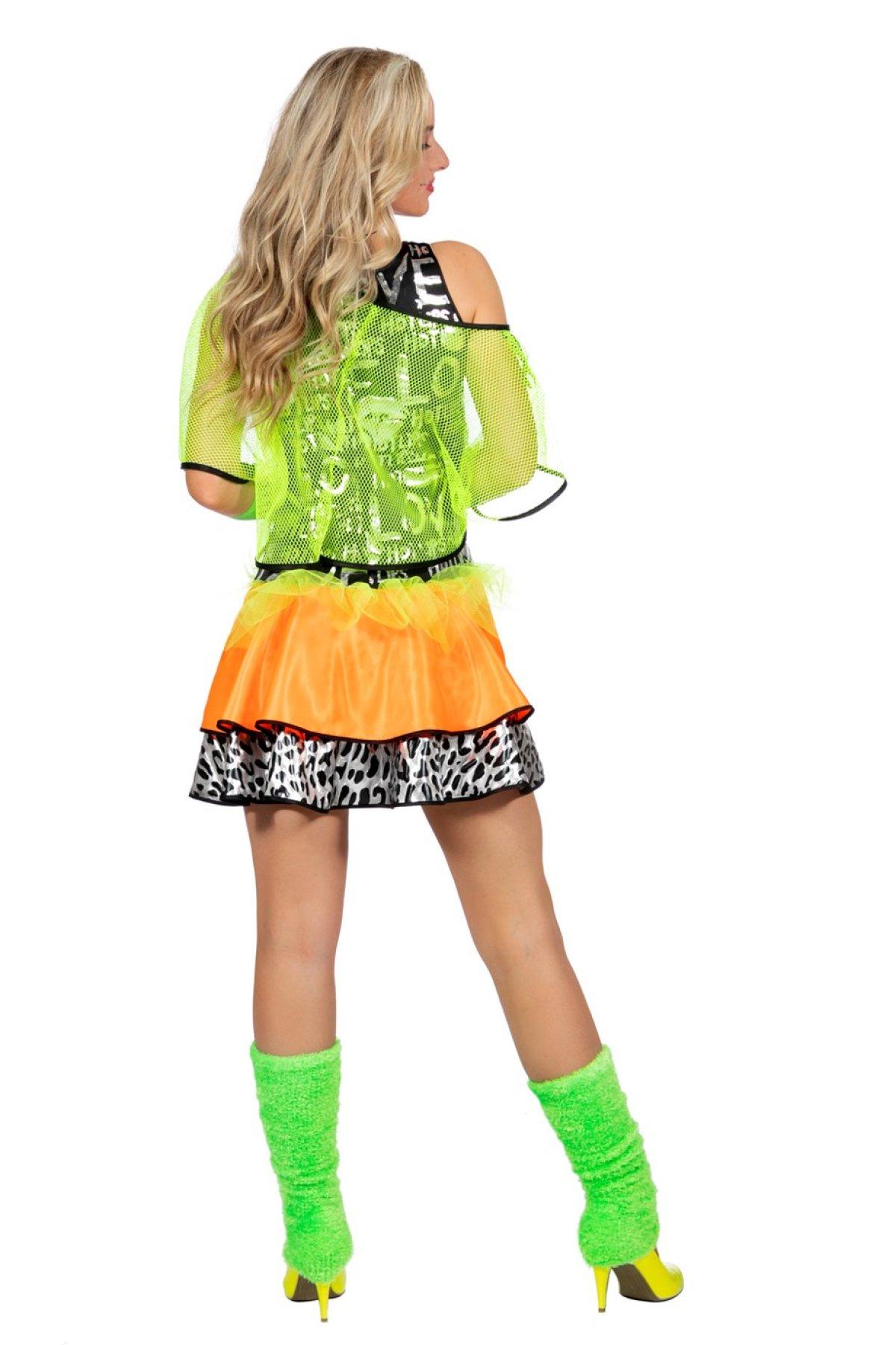Kjøp Neonfarget 80 tallskjole Online Nå kun 349 Temashop.no
