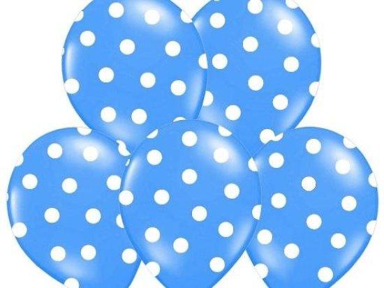Blaa ballonger med prikker Festartikler
