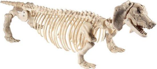 Gravhund skjelettfigur Festartikler