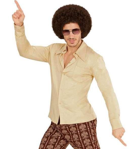 70-tallsskjorte, beige Kostymer