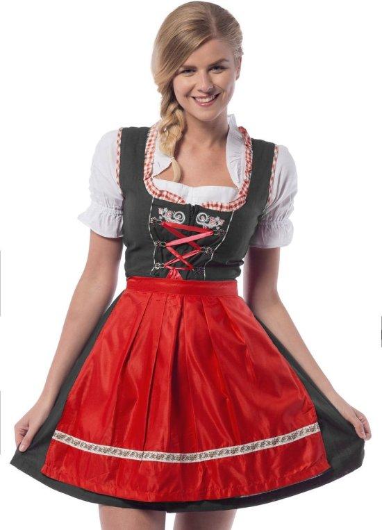 Dirndl Laura, svart/r?d Kostymer