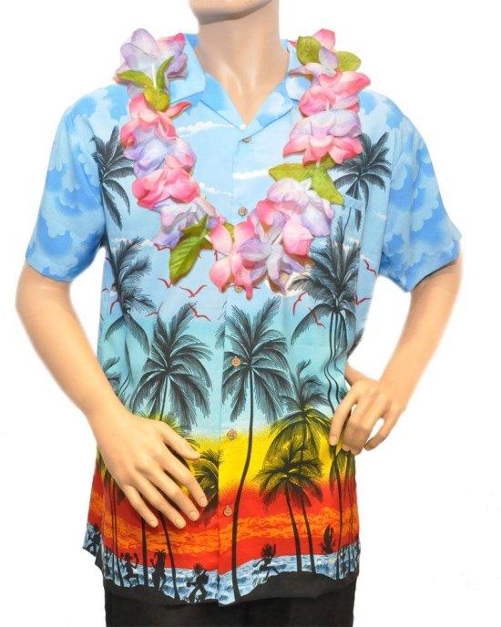 Lyseblaa Hawaiiskjorte Kostymer