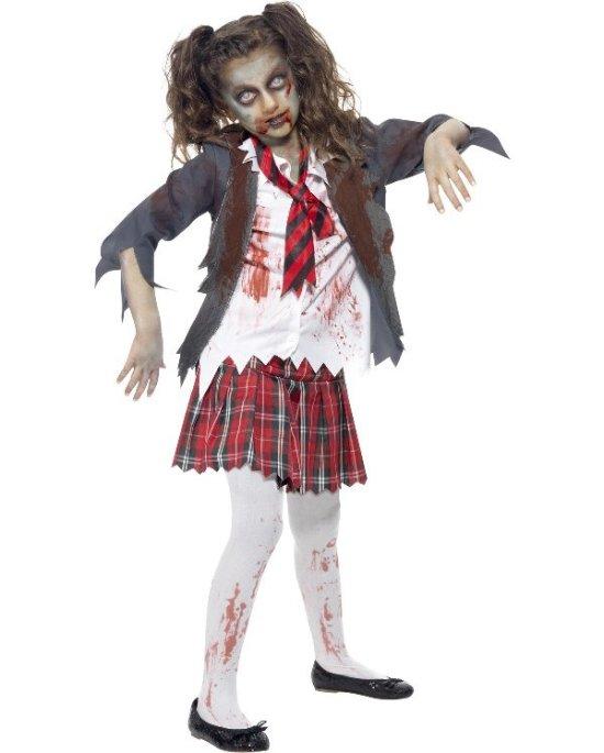 Zombie Skolejente Barnekostyme Kostymer