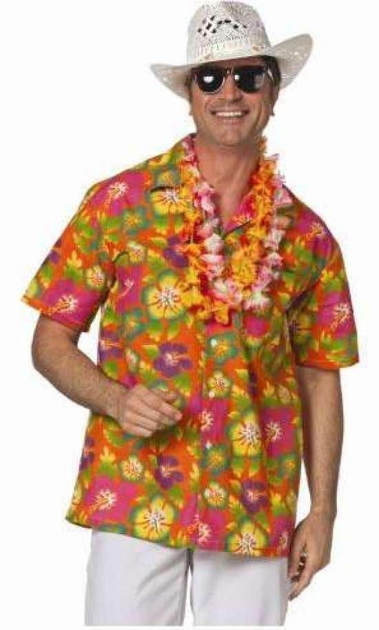 Oransje Hawaii Skjorte