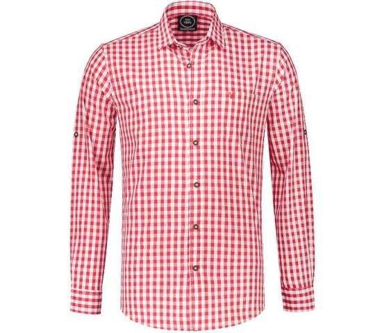 Tyrolerskjorte for herre for oktoberfest   Rutete skjorte